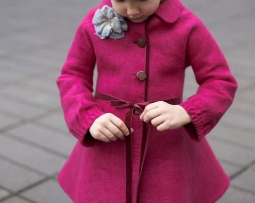 Felted coat   wool coat   felt spring coat for girls   spring coat   fit and flare coat   wool jacket   princess coat