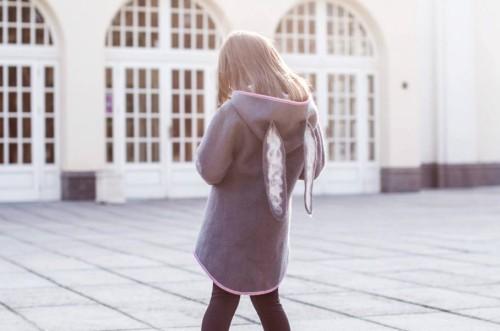 Grey wool felted rabbit coat   fall coat   girls wool coat   felt spring coat   wool felted coat   felt clothing   felt bunny   cocoon coat